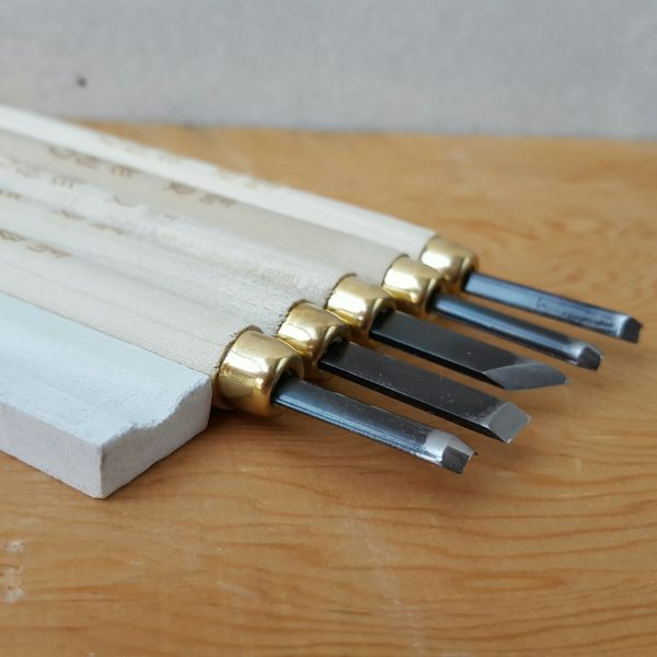 5 Piece Lino + Wood Cutting + Carving Tool Set