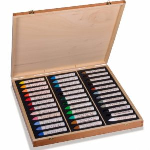 Sennelier 36 Large Oil Pastels Wooden Box Set